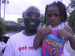 RAGE member Alieon with daughter during the RAGE Father's Day Celebration