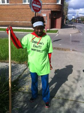 RAGE Student Club Member at Greater Englewood Unity Clean Up Day