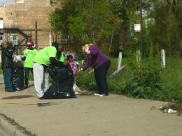 RAGE members at Greater Englewood Clean Up Day