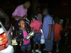 RAGE distributed over 1000 books to Young People in Englewood