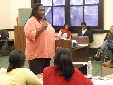 Carole Grant-Hall from Neighborhood Housing Service at Real Talk