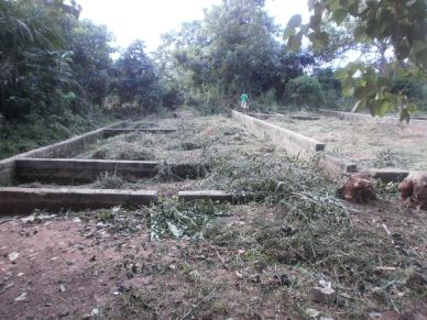 Abira Primary School Foundation being built
