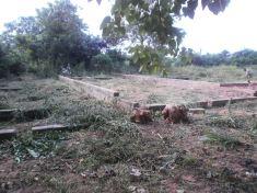 Abira Primary School Foundation being built