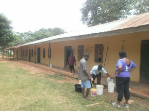 Painting the Abira Junior School