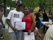 RAGE Intern honored at the 7th District National Night Out