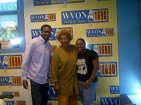 RAGE President, Aysha Butler and Greater Englewood CDC President, Eric McLoyd at WVON