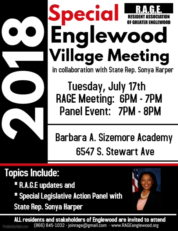 save the date englewood village meeting tuesday july 17th
